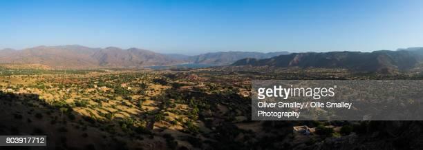 Argana Valley Evening Sunlight - Panorama - Argana Valley, Morocco