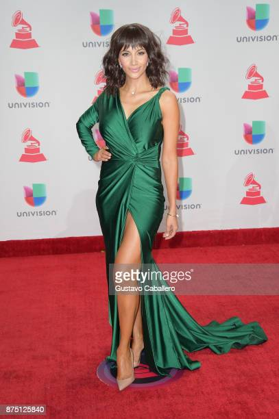 Argelia Atilano attends the 18th Annual Latin Grammy Awards at MGM Grand Garden Arena on November 16 2017 in Las Vegas Nevada