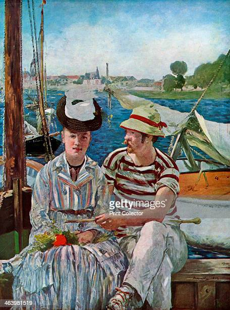 'Argenteuil' 1874 Rudolph Leenhoff Manet's brotherinlaw with an unknown female Found in the collection of the Musee des BeauxArts Tournai Belgium...