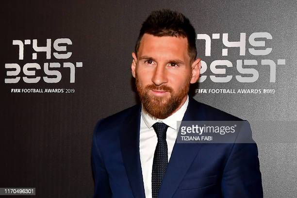 Argentina and Barcelona forward Lionel Messi arrives for The Best FIFA Football Awards ceremony on September 23 2019 at Teatro alla Scala in Milan