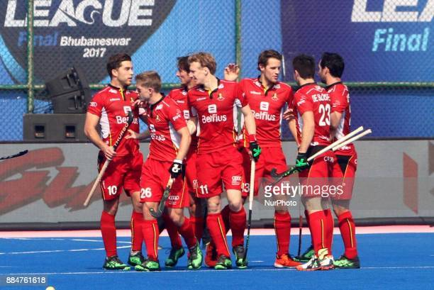 Argentina and Belgium's match in the Hockey World League Final tournament at the Kalinga Stadium in the eastern Indian state Odisha's capital city...