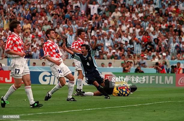 SOCCER argentina argentinian goal cup croatia team joy world