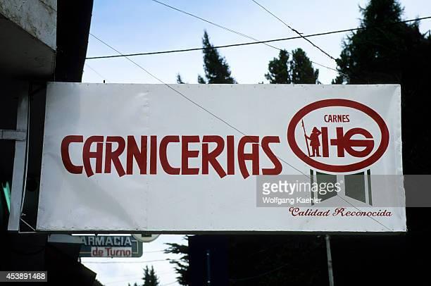 Argentina, Bariloche, Butcher Sign.