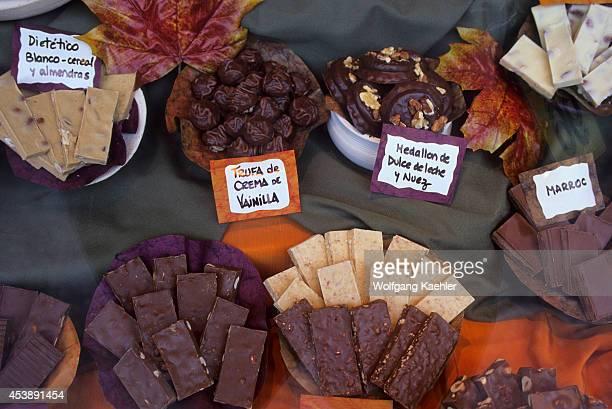 Argentina, Bariloche, Chocolate Store, Window Display.