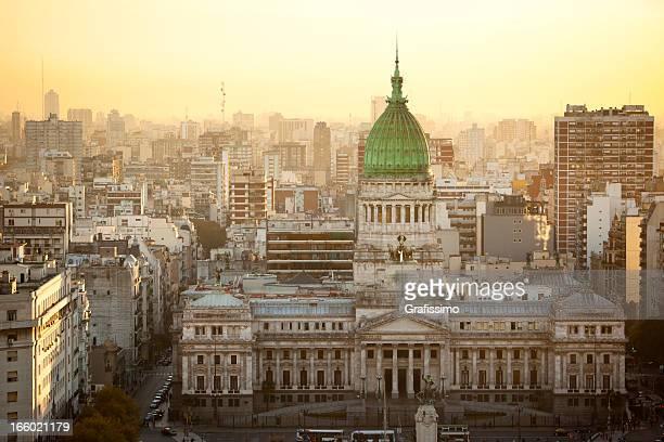 argentinien buenos aires luftaufnahme des palacio del congreso - argentinien stock-fotos und bilder