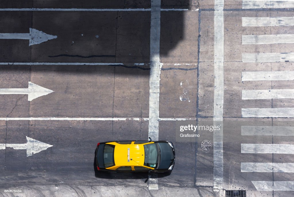 Argentina Buenos Aires aerial view of Taxi in the center of the capital : Stock Photo
