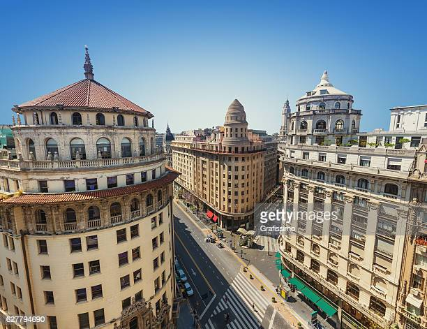 argentina buenos aires buildings aerial view - buenos aires stock pictures, royalty-free photos & images