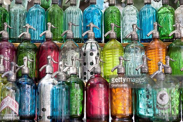Argentina Buenos Aires flea market of San Telmo soda bottles