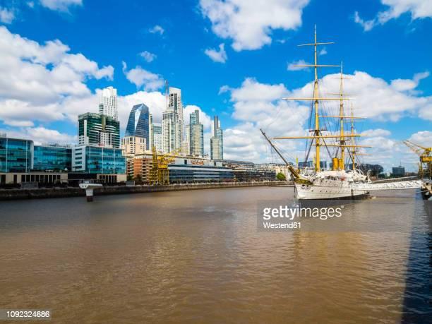 Argentina, Buenos Aires, Puerto Madero, Dock South, Frigate Sarmiento