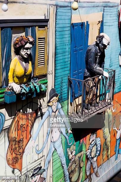Argentina Buenos Aires sculptures at Caminito La Boca