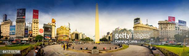 Argentina, Buenos Aires, skyline with obelisk, panoramic view