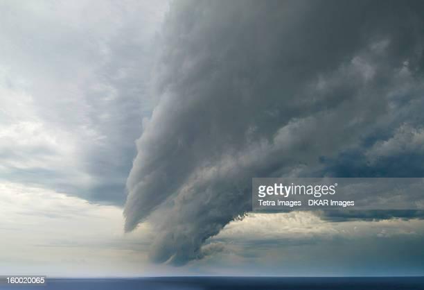 Argentina, Buenos Aires, Storm cloud over sea