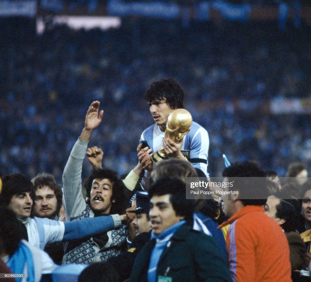 1978 FIFA World Cup Final  -  Argentina v Holland : News Photo