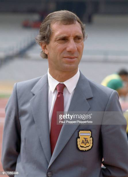 Argentina coach Carlos Bilardo prior to the FIFA World Cup match between Argentina and South Korea at the Estadio Olympico Universitario in Mexico...