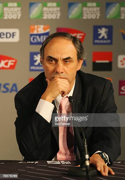 Argentina coach Marcelo Loffreda pictured during the press conference following the opening match of the Rugby World Cup 2007 between France and...