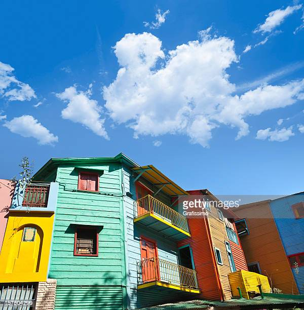 Argentina colourful houses in Buenos Aires La Boca
