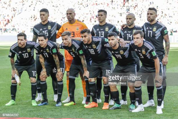 Argentina during the game between Argentina and Iceland valid for the first round of group D of the 2018 World Cup held at the Spartak stadium in...