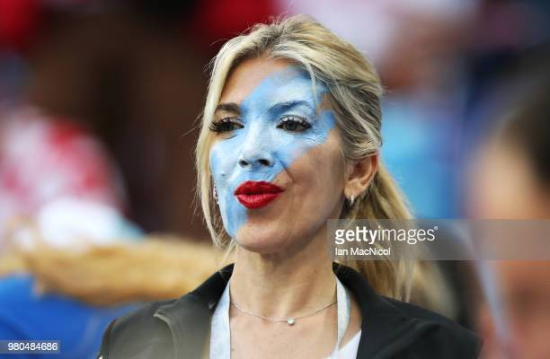 Argentina fan is seen during the 2018 FIFA World Cup Russia group D match between Argentina and Croatia at Nizhniy Novgorod Stadium on June 21 2018...
