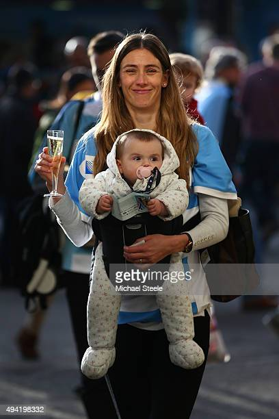 Argentina Fan prior to the 2015 Rugby World Cup Semi Final match between Argentina and Australia at Twickenham Stadium on October 25 2015 in London...