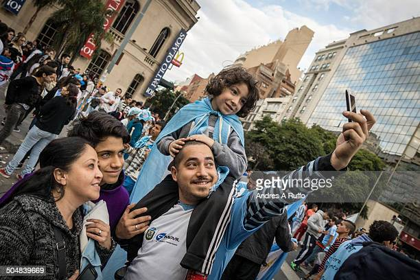 CONTENT] Cordoba Argentina July 1 2014 Argentina fans celebrate in the center of the city after the match against Suiza on July 01 2014 in Cordoba...