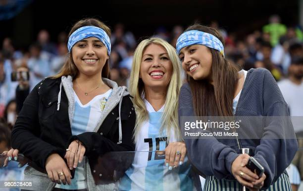 Argentina Fans during the 2018 FIFA World Cup Russia group D match between Argentina and Croatia at Nizhniy Novgorod Stadium on June 21 2018 in...