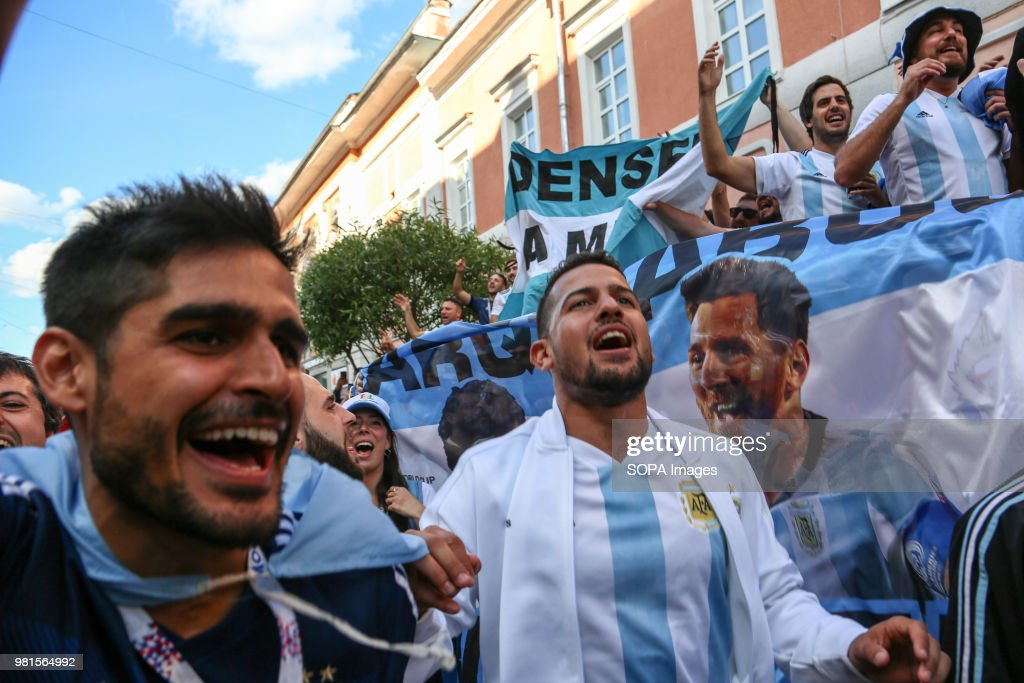 Beautiful Argentina v Croatia - 2018 FIFA World Cup Russia - argentina-fans-watching-the-argentina-vs-croatia-match-in-the-fan-picture-id981564992  Snapshot-806023.com/photos/argentina-fans-watching-the-argentina-vs-croatia-match-in-the-fan-picture-id981564992