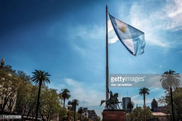 argentina flag - argentina - fotografias e filmes do acervo