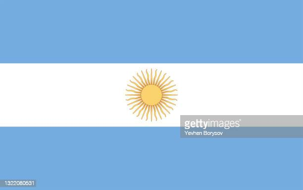 argentina flag simple illustration for independence day or election - south america stock pictures, royalty-free photos & images