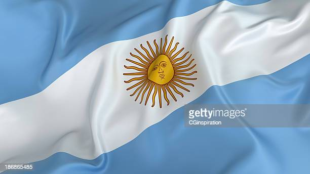 argentina flag with sun on white stripe in on a blue field - argentinas flagga bildbanksfoton och bilder