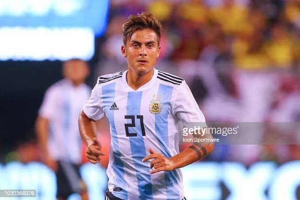 Argentina forward Paulo Dybala during the second half of the International Friendly Soccer game between Argentina and Colombia on September 11 2018...