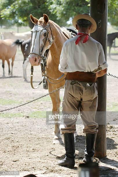 argentinien gaucho - pampa stock-fotos und bilder