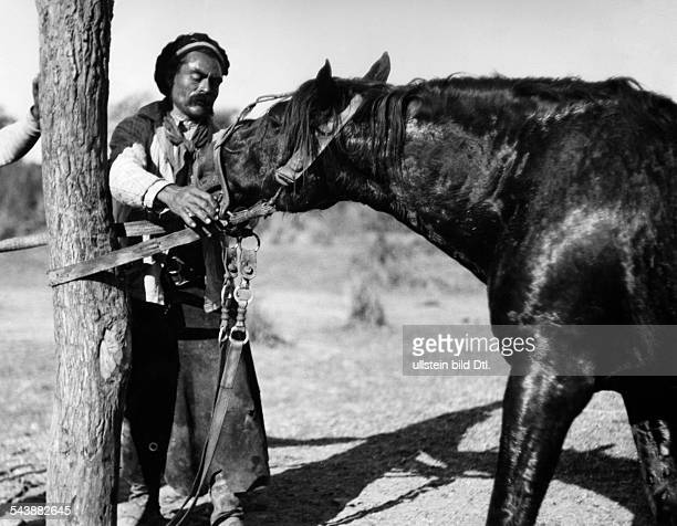 Argentina Gouchos taming wild horses series goucho an tamed horse Photographer Willi Ruge undatedVintage property of ullstein bild