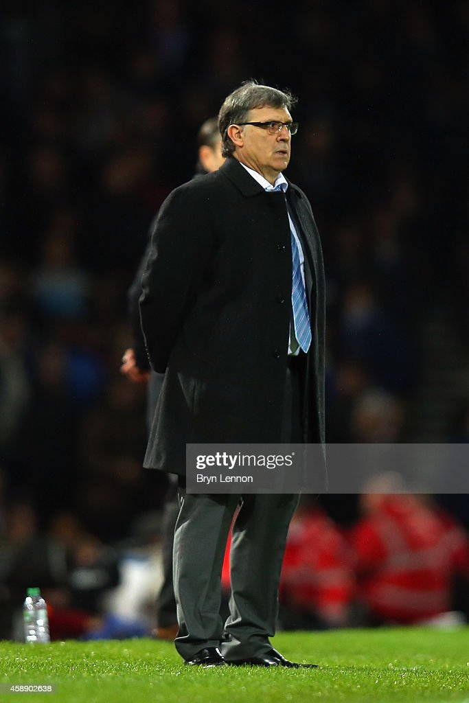 Argentina Head Coach Gerardo Martino looks on during the International Friendly between Argentina and Croatia at Boleyn Ground on November 12, 2014 in London, England.