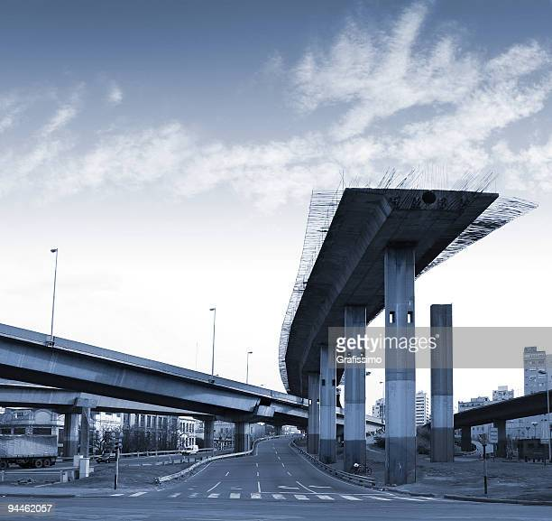 argentina highway to nonentity in buenos aires - incomplete stock pictures, royalty-free photos & images