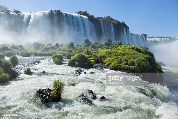 argentina iguazu waterfalls garganta del diablo - iguacu falls stock pictures, royalty-free photos & images