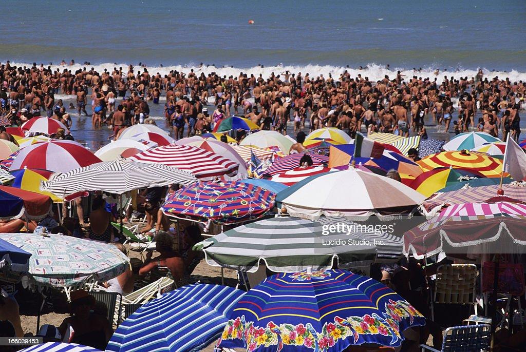 Argentina Mar Del Plata Beach Resort Stock Photo