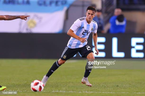 Argentina midfielder Franco Cervi during the second half of the International Friendly Soccer game between Argentina and Colombia on September 11...
