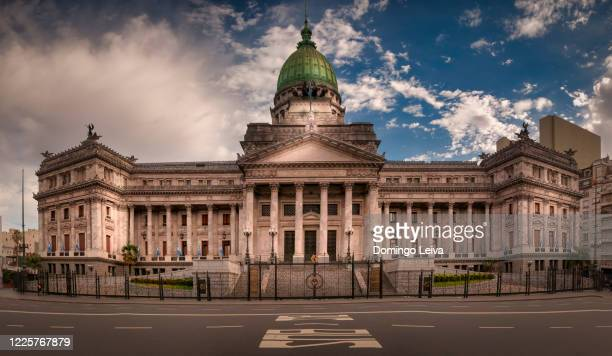 argentina national congress building facade, buenos aires, argentina. - congress stock pictures, royalty-free photos & images