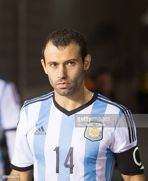 Argentina National Team Captain Javier Mascherano during the Gillette International Soccer Series match between Argentina and Ecuador The match ended...