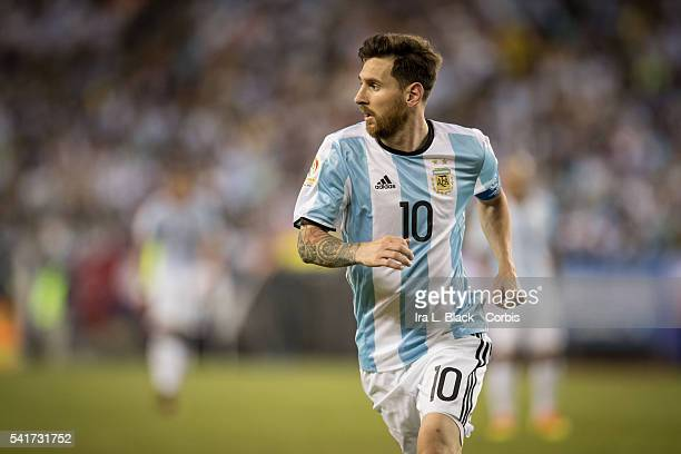 Argentina national team Captain Lionel Messi during the 2016 Copa America Centenario quarterfinal match against Venezuela at Gillette Stadium on June...