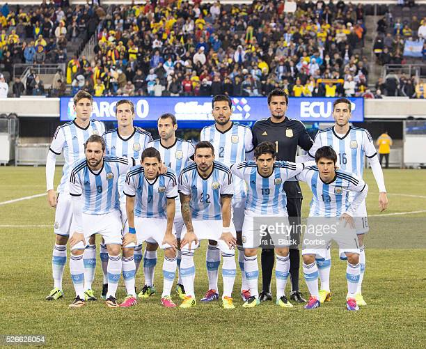 Argentina National Team players Captain Javier Mascherano Facundo Roncaglia Ever Banega Ezequiel Garay Ezequiel Lavezzi Sergio Romero Angel Di Maria...