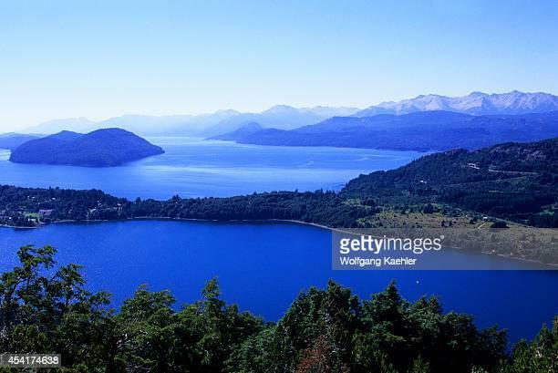 Argentina, Near Bariloche, Campanario Hill, View Of Lake District.