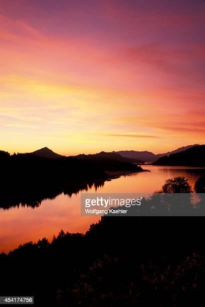 Argentina, Near Bariloche, Lake District, Sunrise.