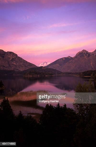 Argentina, Near Bariloche, Lake District, View Of Tronador Volcano.