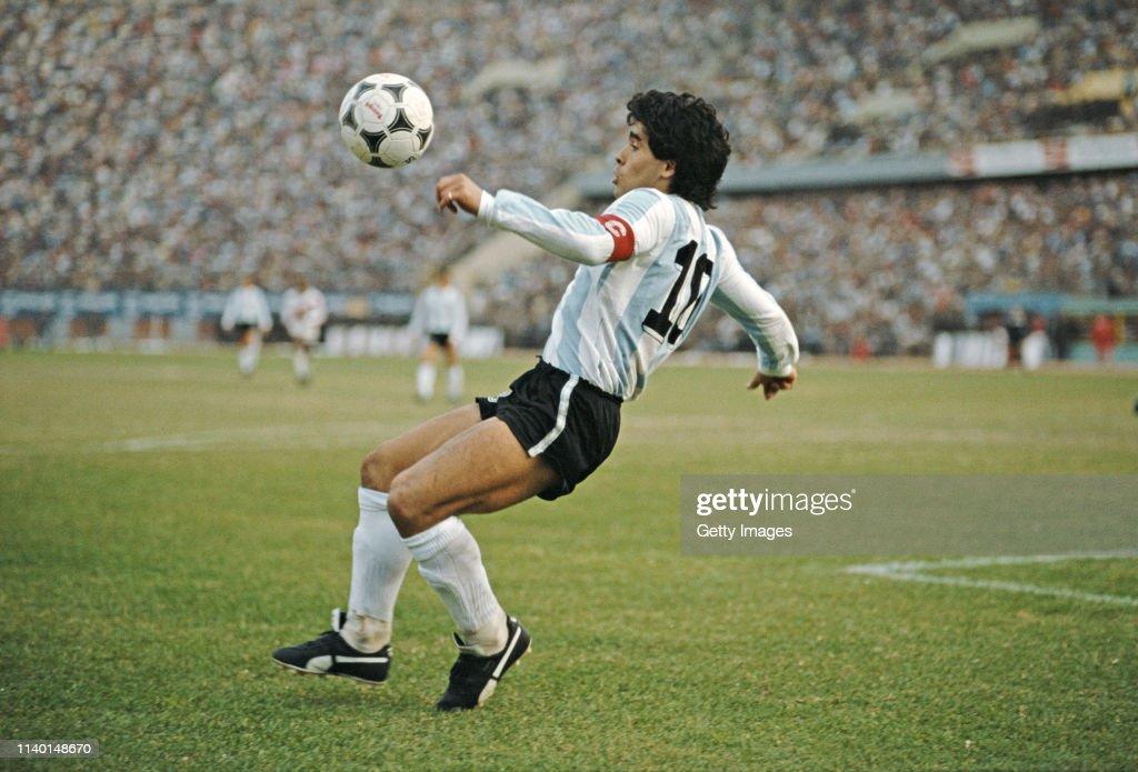 Diego Maradona Argentina 1985 : News Photo