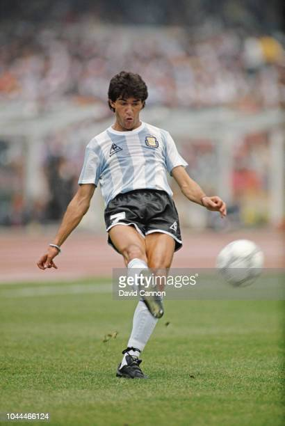 Argentina player Jorge Luis Burruchaga in action during the 1986 FIFA World Cup 31 defeat of South Korea at the Olympic stadium in Mexico City Mexico...