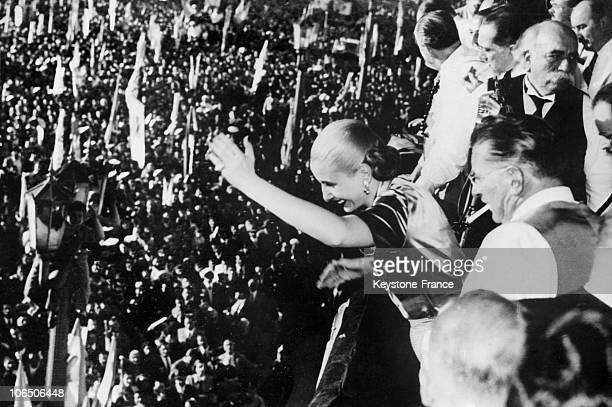 Argentina President'S Wife Eva Peron In 1950