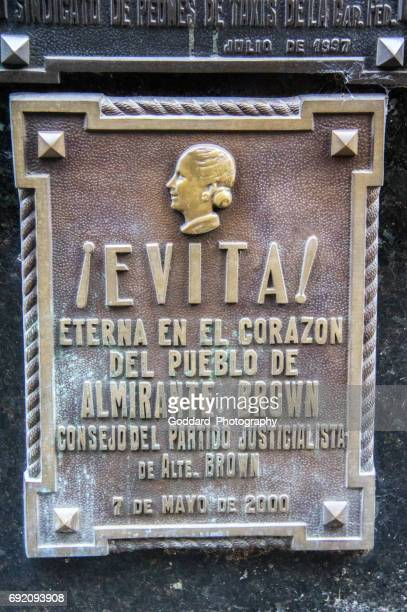 argentina: cementerio de la recoleta en buenos aires - eva peron fotografías e imágenes de stock