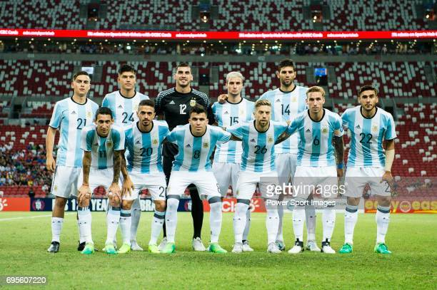 Argentina squad pose for photos during the International Test match between Argentina and Singapore at National Stadium on June 13 2017 in Singapore