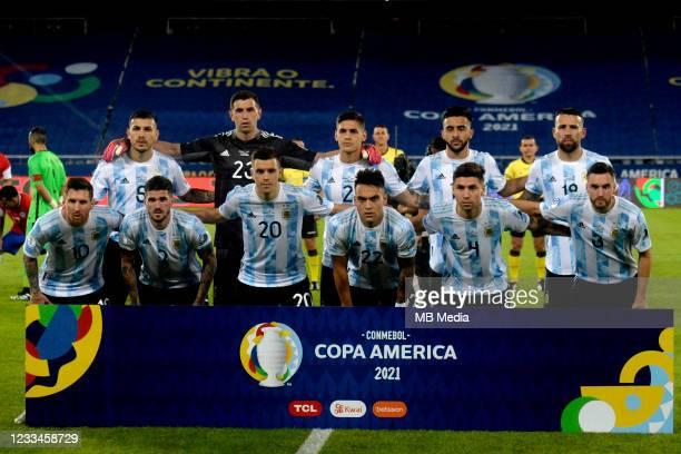 Argentina Team Group ,From the left up : Leandro Paredes ,Emiliano Martinez ,Lucas Martinez Quarta ,Nicolas Gonzalez ,Nicolas Otamendi ,Lionel Messi...